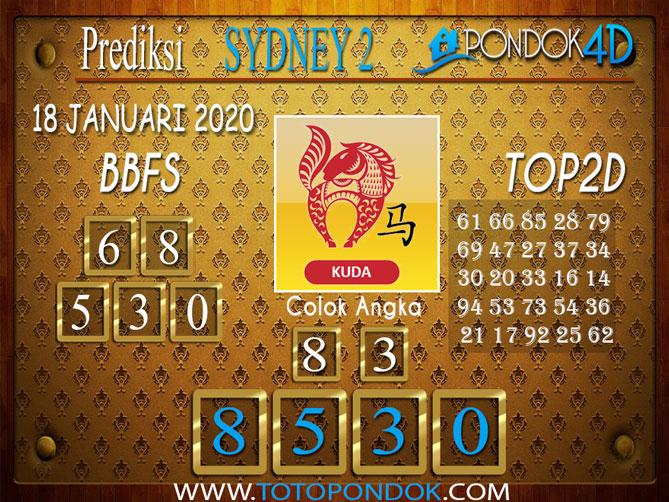 Prediksi Togel SYDNEY 2 PONDOK4D 18 JANUARI 2020