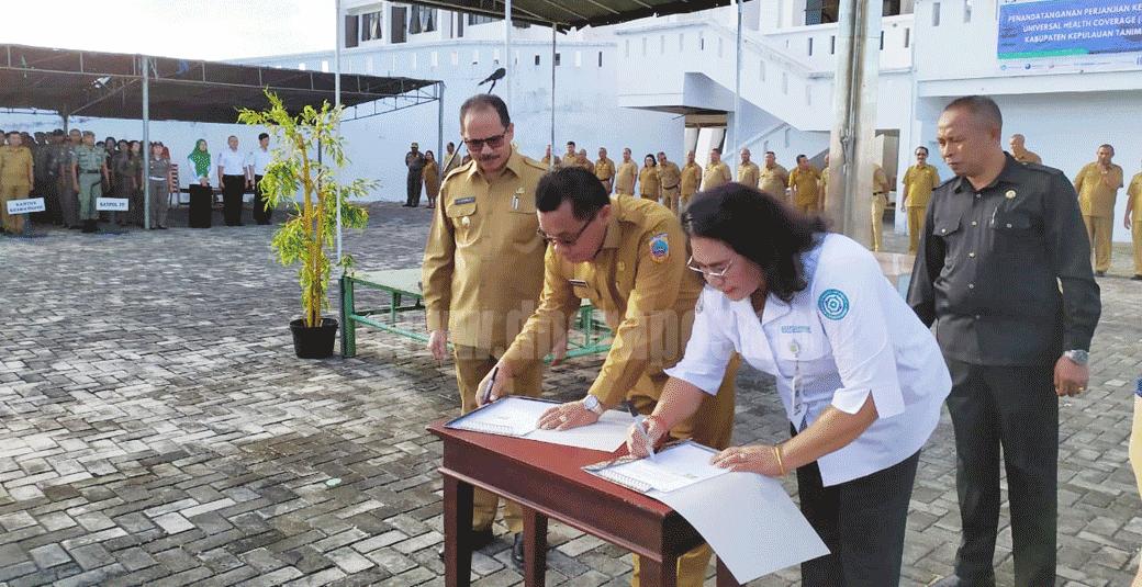Pemkab Tanimbar Dan Bpjs Ambon Teken Mou Uhc Dhara Pos