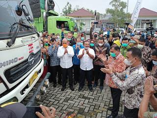 Bupati Deliserdang Lepas Ekspor Perdana Keripik Singkong ke Korsel