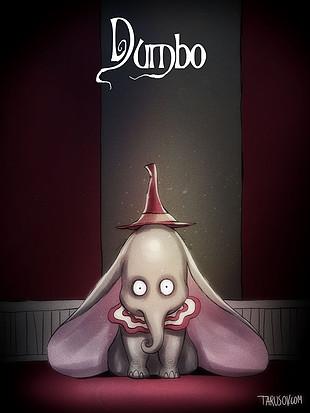 Los clásicos de Disney al estilo de Tim Burton: Dumbo. Ver. Oír. Contar.