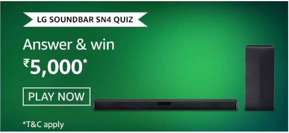 Amazon LG Soundbar SN4 Quiz Answers