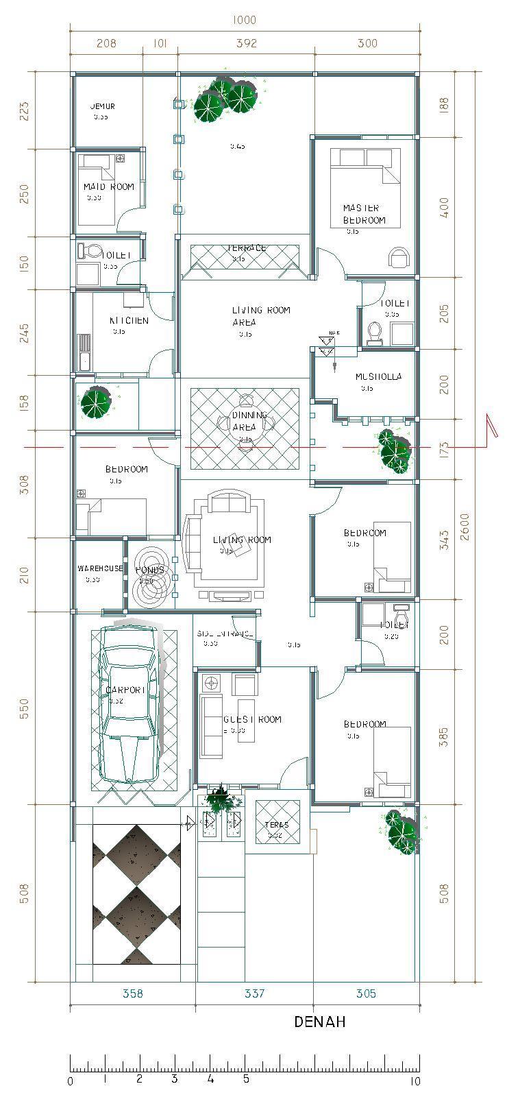 Gambar Desain Rumah Minimalis 3 Kamar 1 Mushola Terbaru Desain