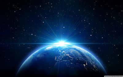La Terre Vue de l'Espace - Fond d'Écran en Quad HD 1440p