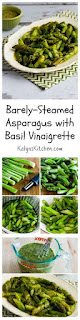 Barely Steamed Asparagus Recipe with Basil Vinaigrette [from KalynsKitchen.com]