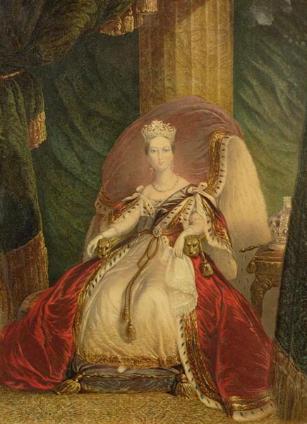 British Paintings Portrait Of Queen Victoria