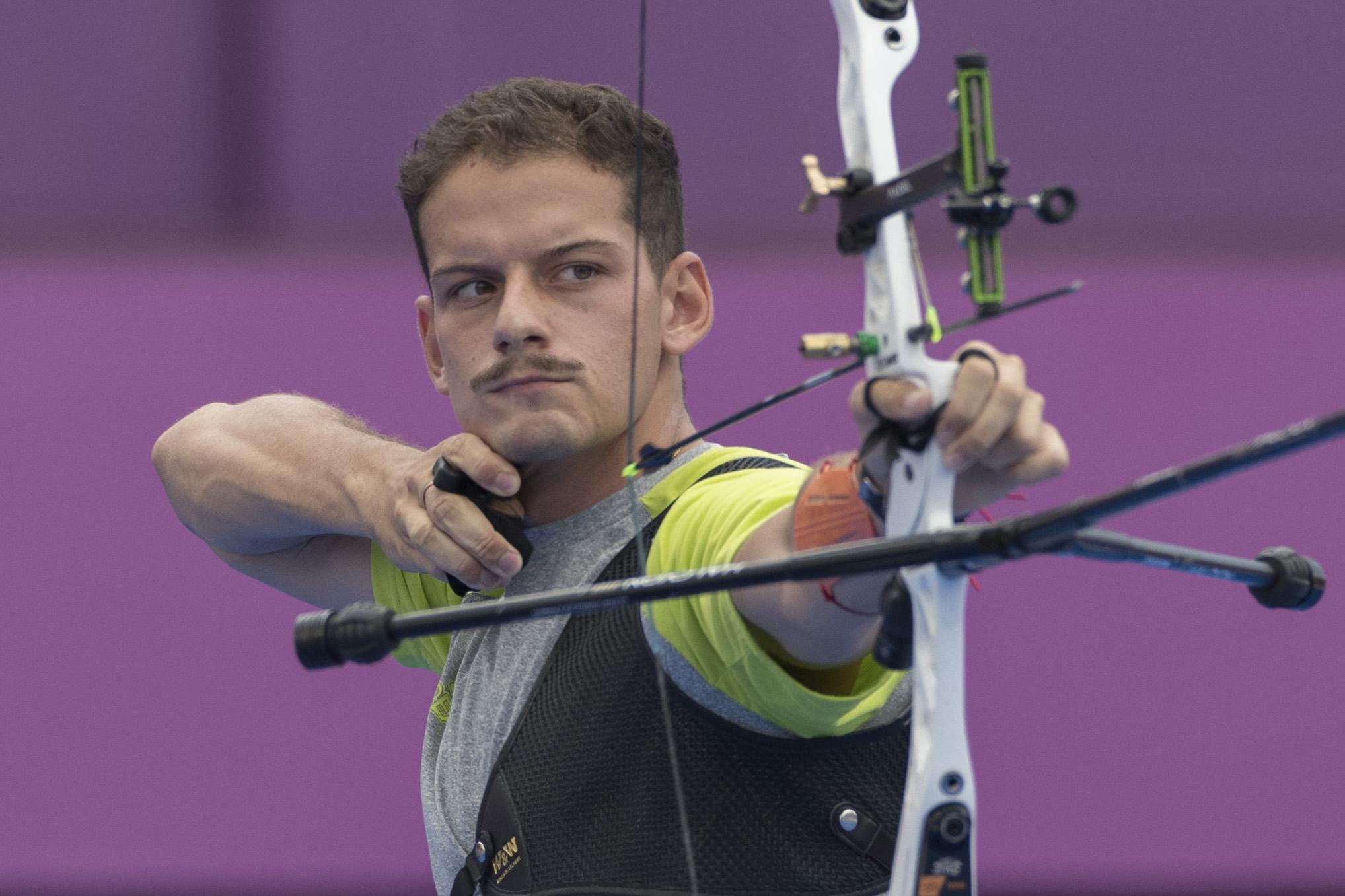 Marcus Vinicius D'Almeida no Mundial de tiro com arco