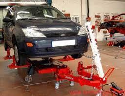 Cầu nâng cho khoang sửa chữa xe tai nạn-1
