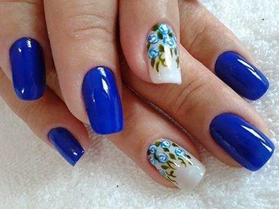 unhas decoradas azuis 7