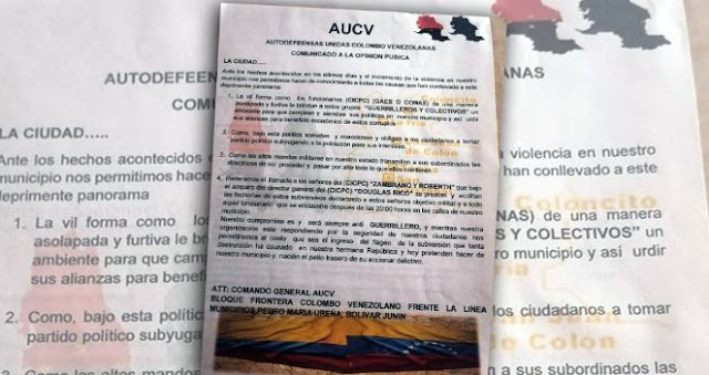 FRONTERA: paramilitares colombianos amenazaron a la Policía y militares venezolanos por amparar a la guerrilla por Táchira.