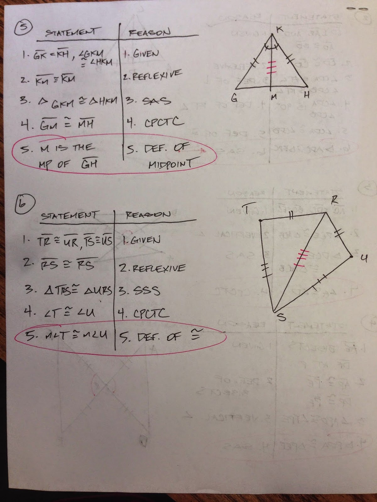 Honors Geometry - Vintage High School: Section 4-4 Proof ...