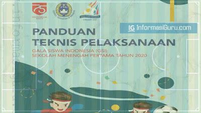 Download Juknis Gala Siswa Indonesia (GSI) Daring/ Online SMP Tahun 2020 I PDF