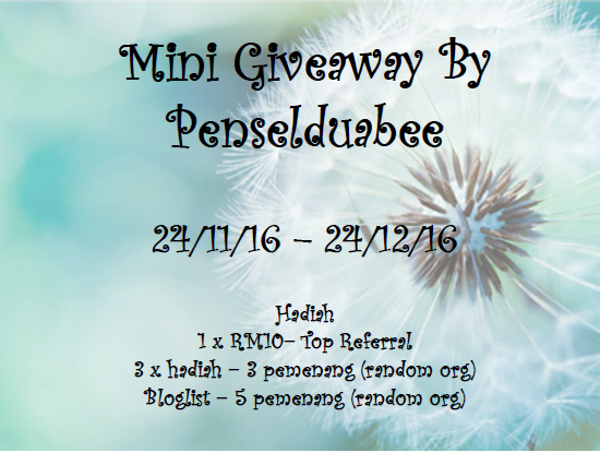 Mini Giveaway By Penselduabee