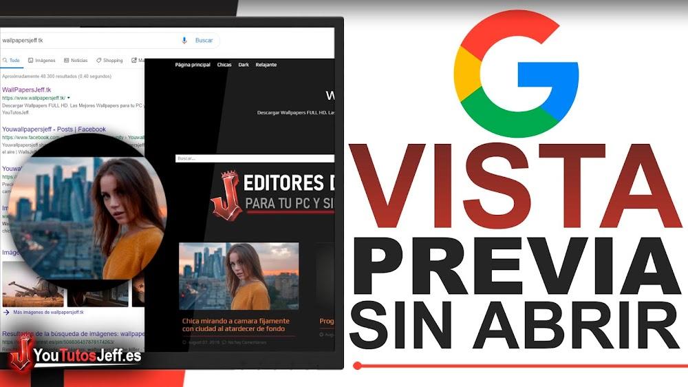 Vista Previa de Webs Antes de Abrirlas, Google Results Previewer