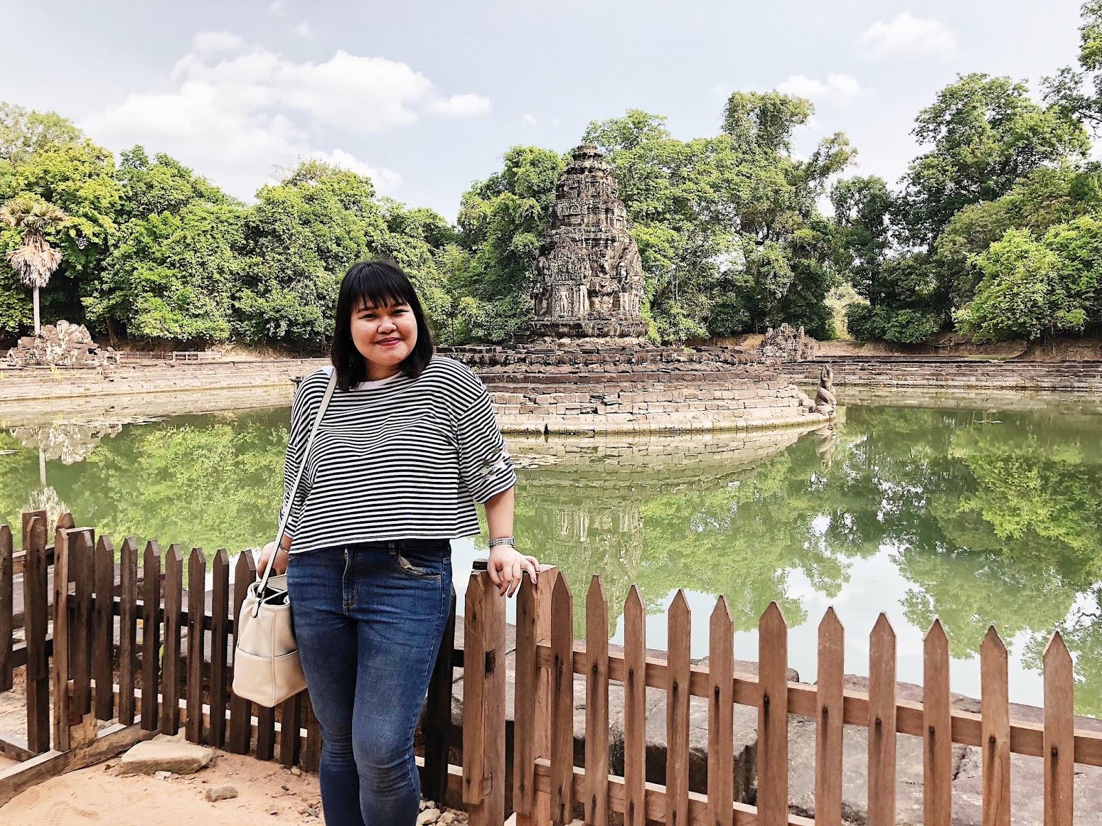 Ton posing inside Neak Pean