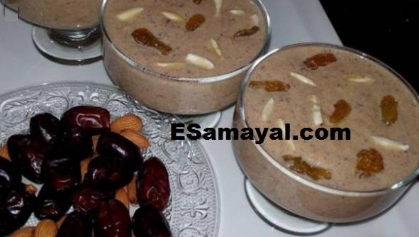 பேரீச்சம்பழ பாயசம் செய்வது   Dates Payasam Recipe !