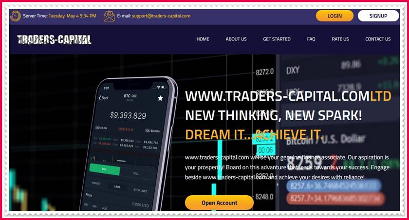 Мошеннический сайт traders-capital.com – Отзывы, развод, платит или лохотрон? Мошенники