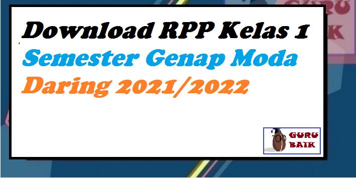 gambar rpp daring kelas 1 tema 8 revisi 2021