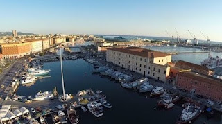 The harbour area at Livorno, which is the second largest city in Tuscany