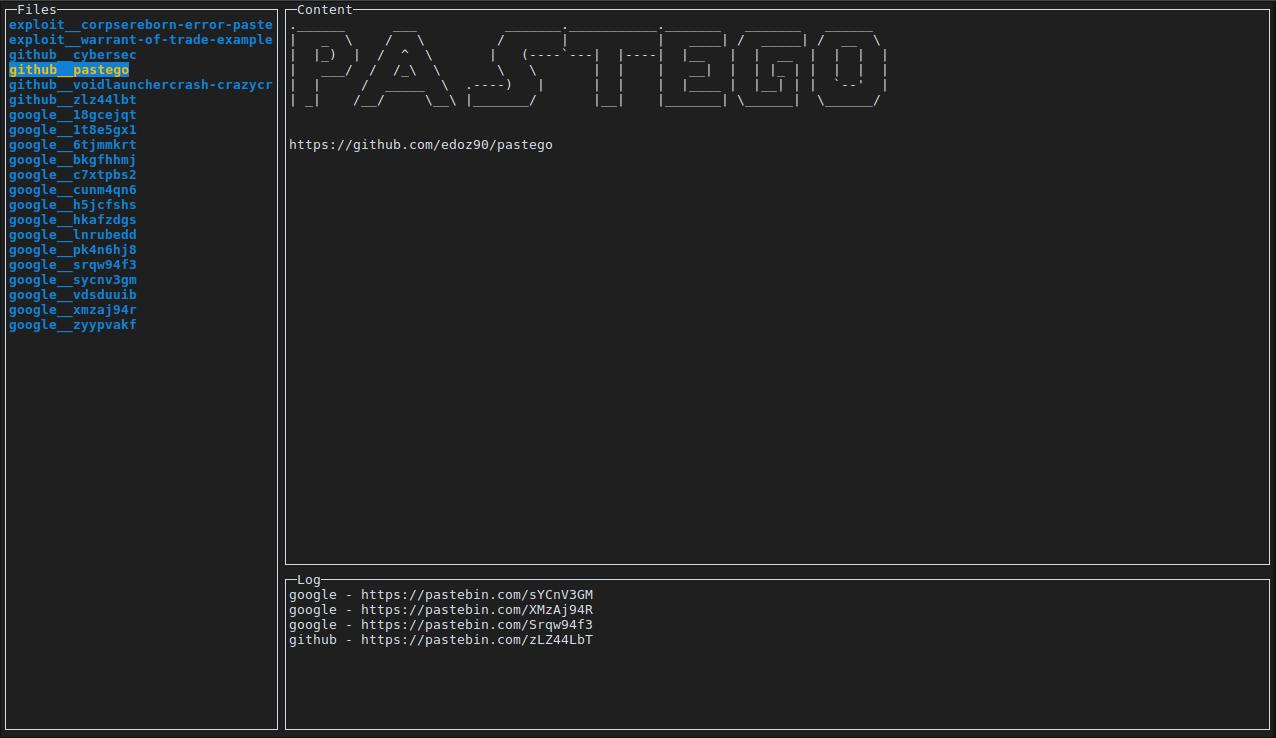 Pastego - Scrape/Parse Pastebin Using GO And Expression
