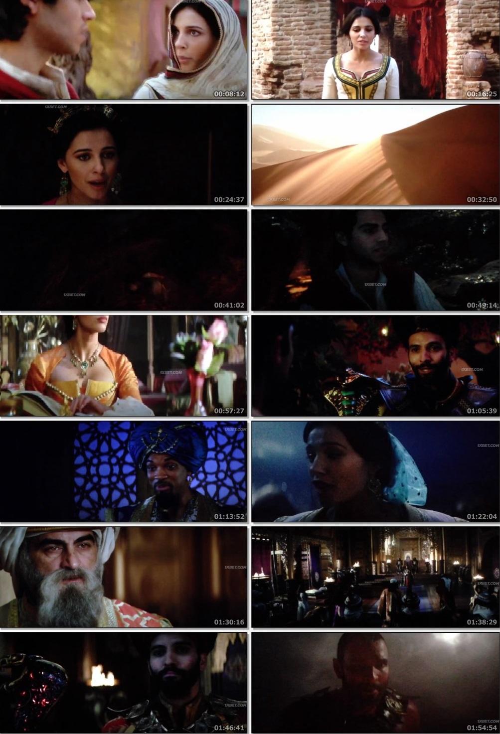 Screen Shot Of Aladdin 2019 In Hindi English Dual Audio Bluray