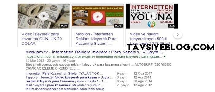 Video Ve Reklam İzleyerek Para Kazanma