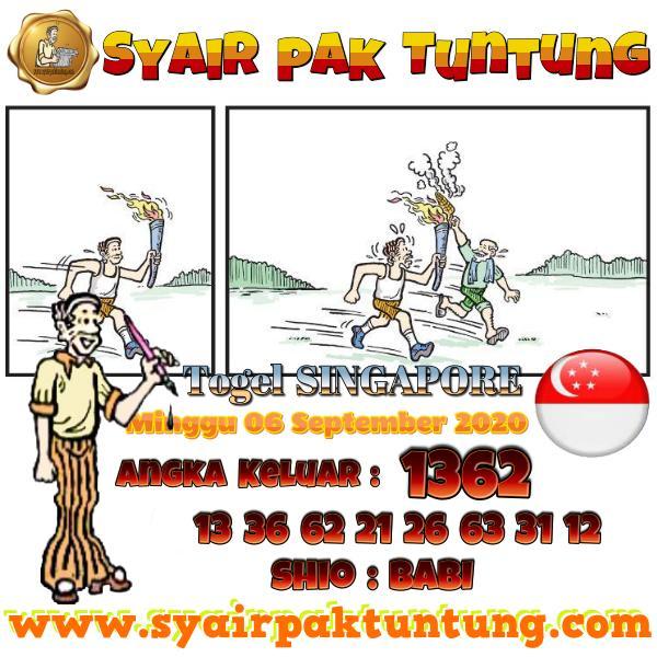 Syair SGP Senin 07 September 2020 -