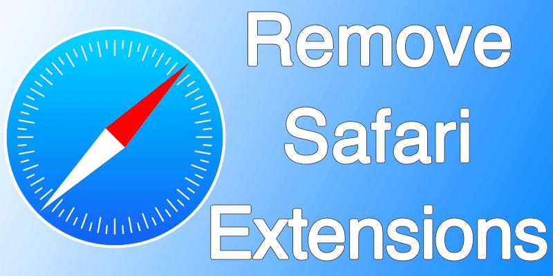 remove safari extensions