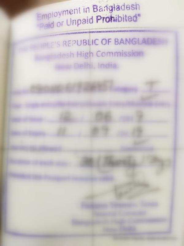 Bangladesh Tourist Visa For Indians From Chennai Enidhi India Travel Blog