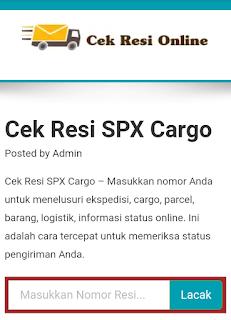 Cek Resi SPX (Sriwijaya Prima Express) Cargo