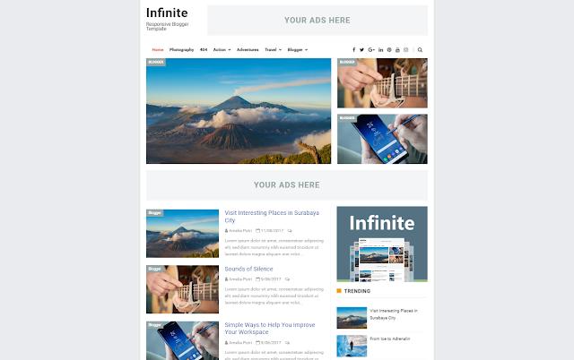 Infinite Premium Blogger Template