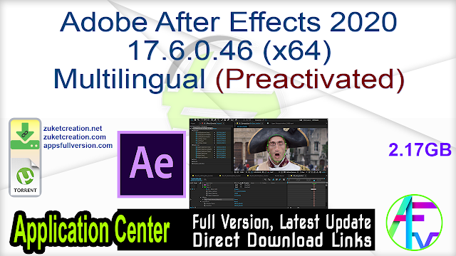 Adobe After Effects 2020 17.6.0.46 (x64) Multilingual (Preactivated)