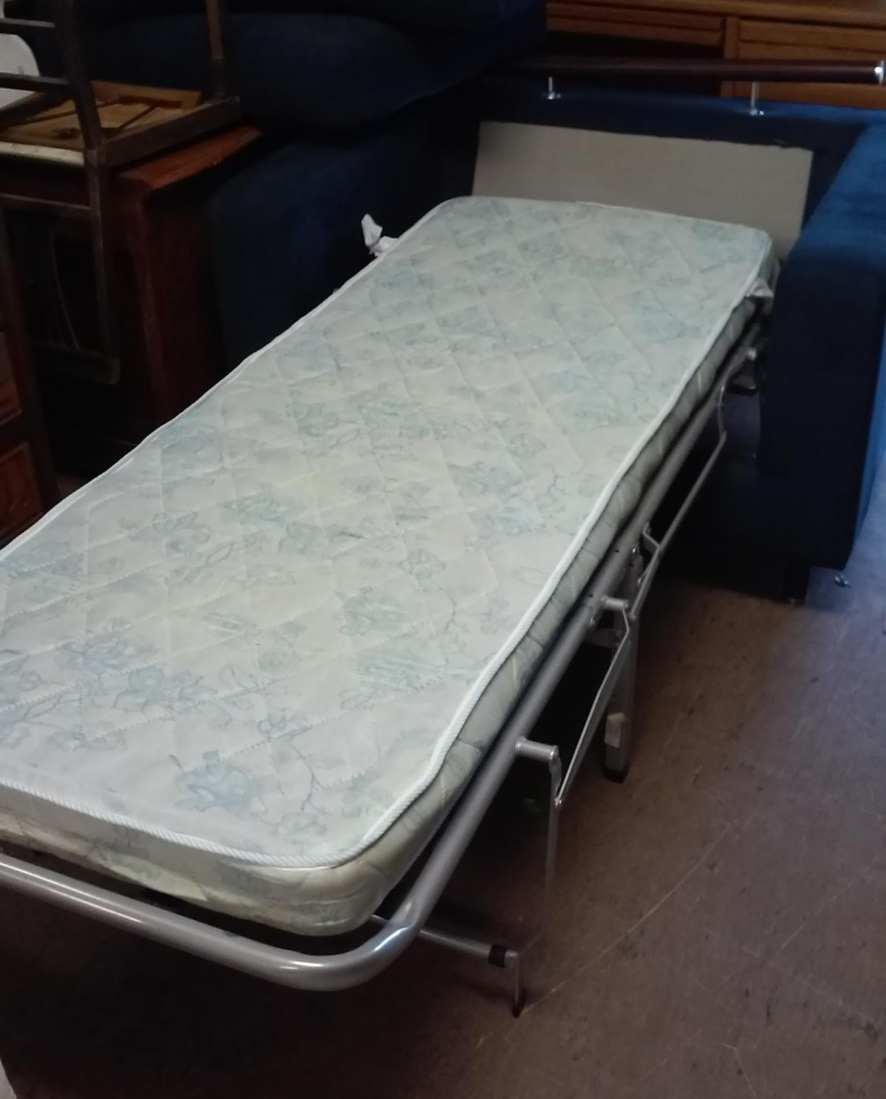 UHURU FURNITURE & COLLECTIBLES: SOLD Midnight Blue Chair