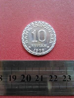 10 rupiah tahun 1979