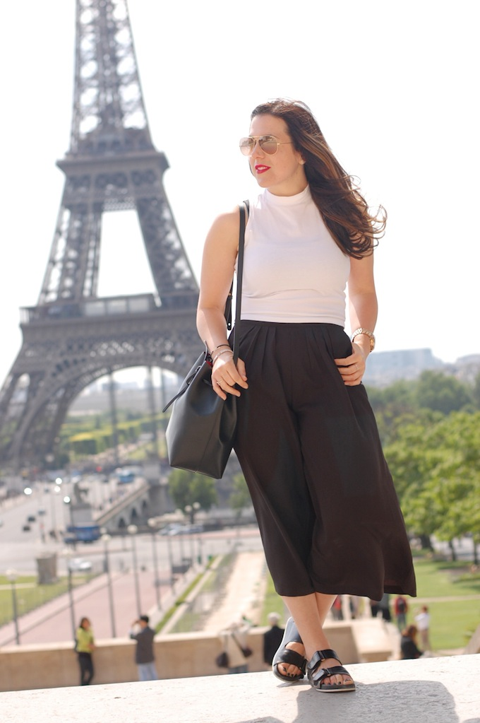 Forever 21 culottes and crop top by Vancouver fashion blogger Aleesha Harris of Covet and Acquire and Mansur Gavriel bag.