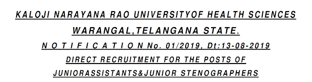KNRUHS Junior Assistant Previous Papers and Syllabus 2019 -  Telugu