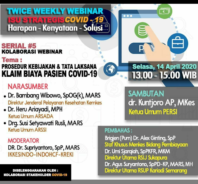 Twice Weekly Webinar COVID-19 Selasa, 14 April 2020