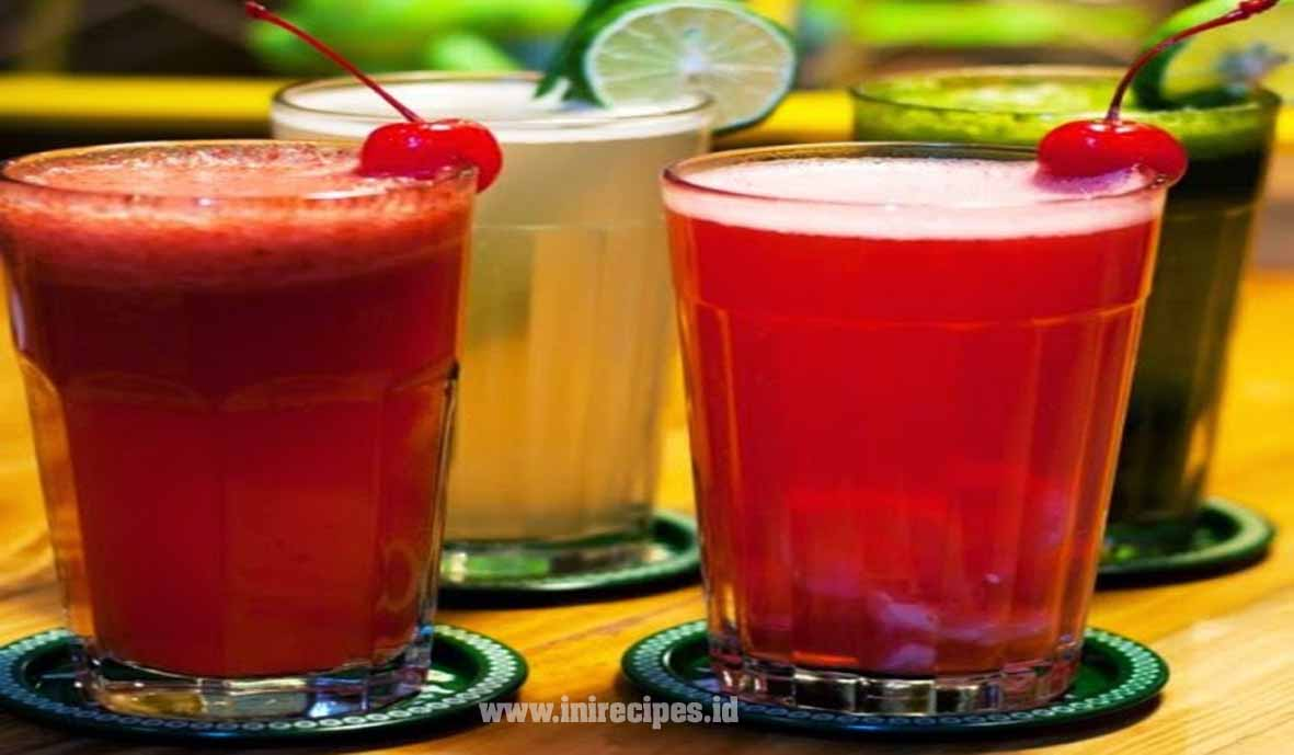 Resep Minuman Segar Orange in Red