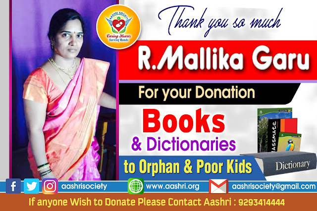 aashri society Books and Dictionaries distribution to Orphan kIds with sponsers