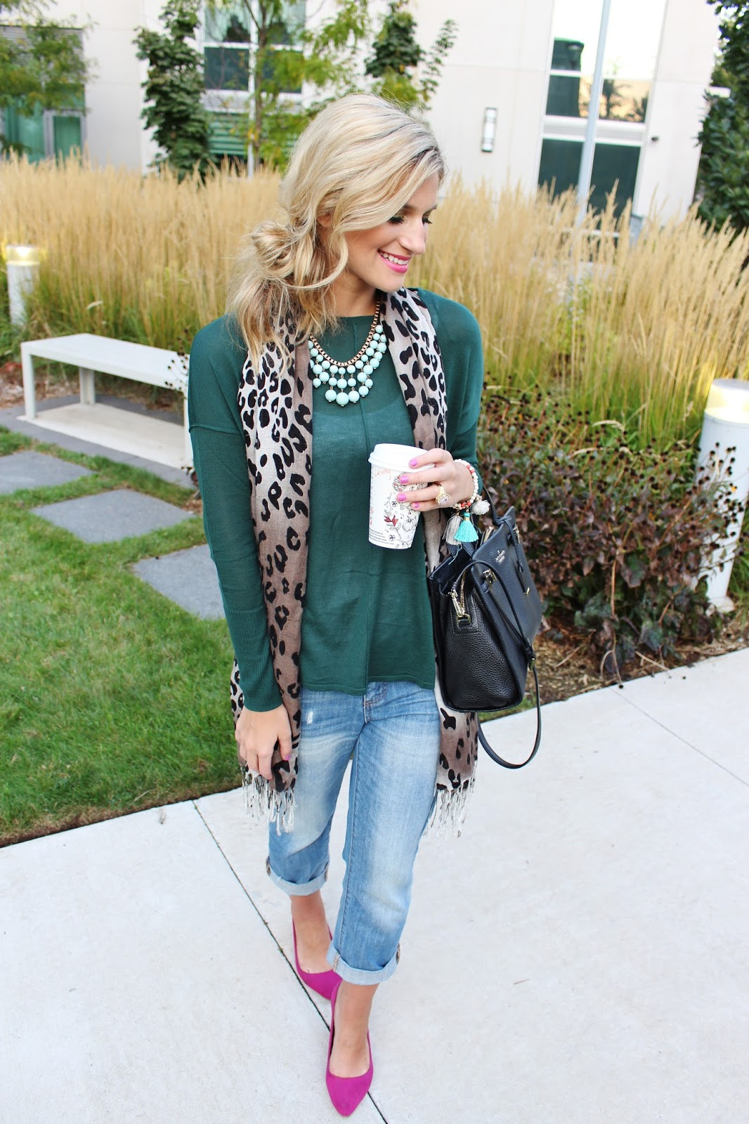 bijuleni - leopard scard and emerald top