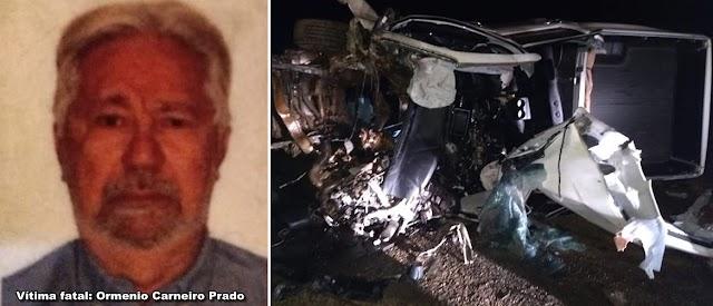 Jataí: Colisão entre caminhão e caminhonete deixa uma pessoa morta na GO 184