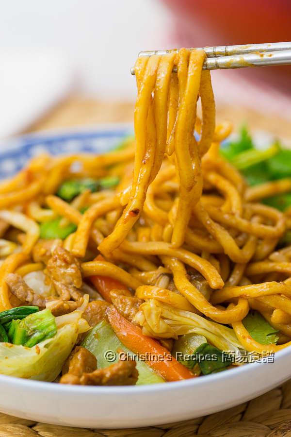肉絲炒拉麵 Spicy Pork Ramen Noodle Stir-Fry01