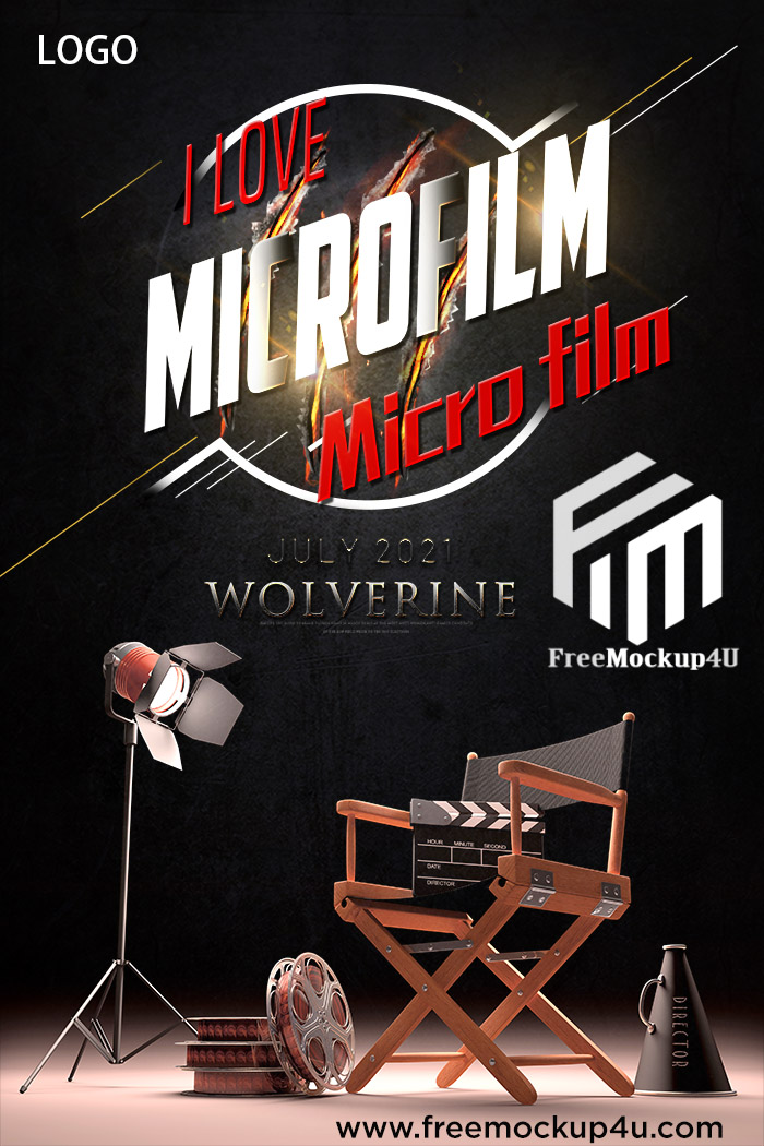High and Minimalist Chinese Style Photography Micro Film Poster