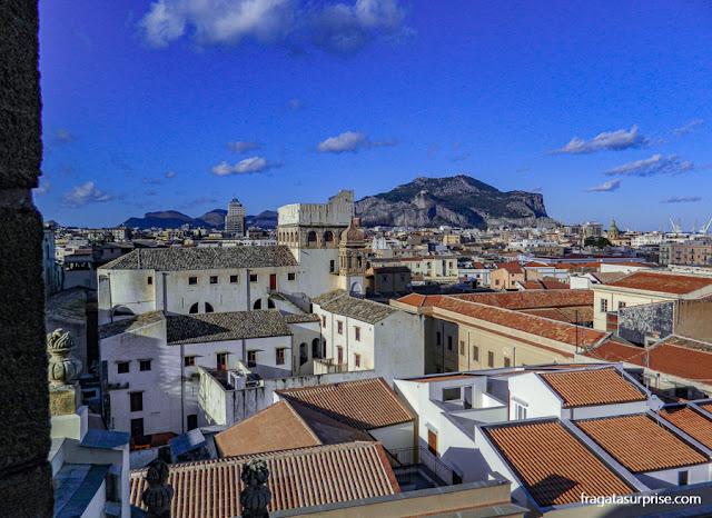 Palermo vista do alto, da cúpula da Igreja do Santíssimo Salvador