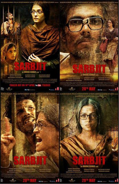 Review Filem Sarbjit Lakonan Aishwarya Rai, Randeep Hooda, Richa Chadda, Poster Filem Sarbjit (2016), Kisah Benar, Kisah Sedih, Tragis, Tragedi, Politik, Sejarah,