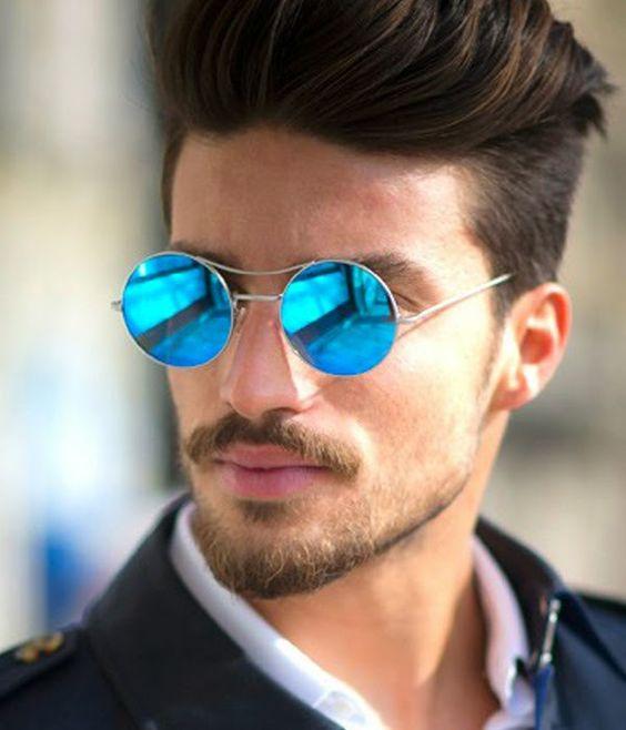 Oculos Rayban Espelhado Azul Redondo   David Simchi-Levi 13e2a33de1