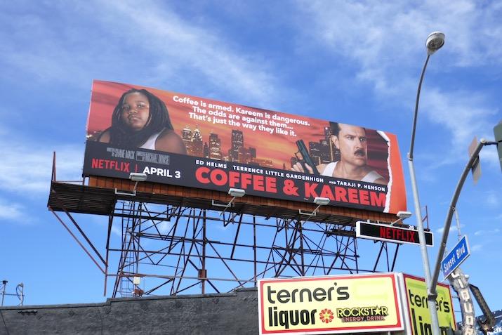 Coffee and Kareem Die Hard billboard