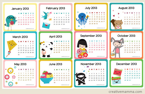 Cute Calendar Template 2013 14 | Online Resume Maker Word