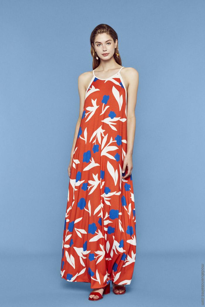 Vestidos largos primavera verano 2020. Moda mujer primavera verano 2020.