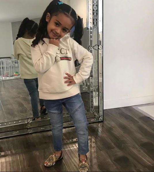 Cute Photo Of Chris Brown's daughter, Royalty.