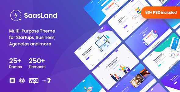 Saasland - MultiPurpose WordPress Theme for Startup Review